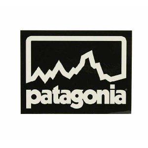 patagonia(パタゴニア) Patagonia STICKER パタゴニア ステッカー 黒/白 beside-mountain