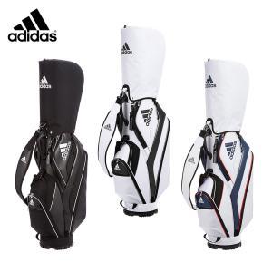 セール adidas アディダス メンズ ゴルフ キャディバッグ バッグ AWR92 17SS 9型 47インチ対応 軽量 初心者 ホワイト ネイビー ブラック A10227 A10228 A10230|bespo
