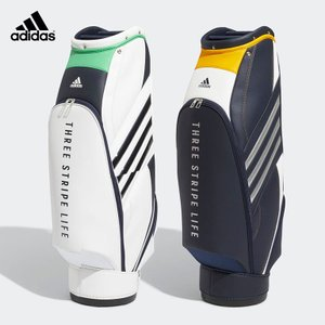 adidas アディダス メンズ ゴルフ バッグ 軽量 スリーストライプ キャディバッグ EMH86 重量2.7kg 5分割口枠 9型 47インチ対応 自立式 21FW 秋冬|bespo