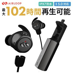 AIRLOOP SNAP 3in1 イヤホン エアーループ ワイヤレスイヤホン Bluetooth ...