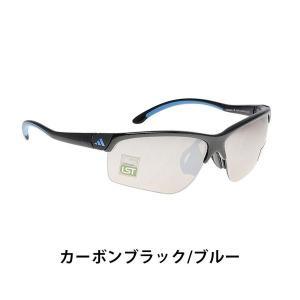 adidas アディダス スポーツ サングラス ADIVISTA A164016093 カーボンブラック ブルー L メンズ UVカット A164-01-6093|bespo