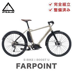 店頭受取のみ FUJI フジ 電動アシスト自転車 クロスバイク FARPOINT ファーポイント 2021年モデル 650B 9段変速 サイズ M L 自転車 バイク 通勤 通学|bespo