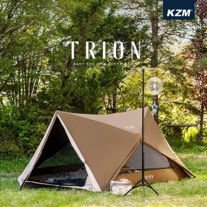 KAZMI カズミ KZM アウトドア テント ワンタッチテント トリオン TRION 1-2人用 幅280×奥行330cm 7.5kg 簡単組立 1人用 2人用 キャンプ BBQ 送料無料|bespo