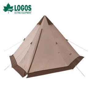 LOGOS ロゴス アウトドア テント Tradcanvas VポールTepee400-BA 71805573 組立簡単 ワンポール ティピー ティーピー 円錐形 収納バッグ付き BBQ 釣り キャンプ|bespo