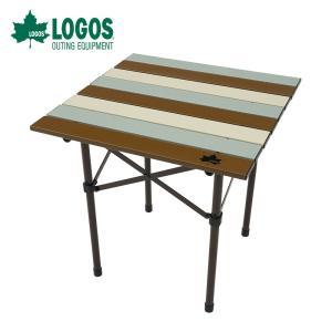 LOGOS ロゴス アウトドア キャンプ テーブル LOGOS Life ロール サイドテーブル ヴ...