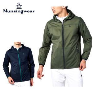 Munsingwear マンシングウェア ゴルフウェア メンズ アウター ナイロンリップパッカブルブルゾン はっ水 MGMSJK03 21FW 2021年モデル 秋冬 ナイロン ミリタリー|bespo
