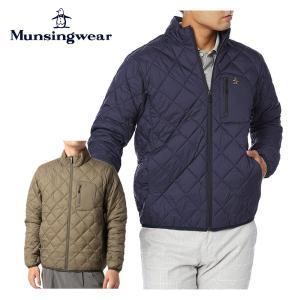 Munsingwear マンシングウェア ゴルフウェア メンズ アウター ECO はっ水キルティング軽量ブルゾン MGMSJK05 21FW 2021年モデル 秋冬 軽量 保温 撥水|bespo