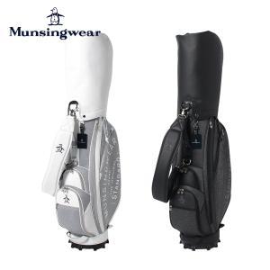 Munsingwear マンシングウェア ゴルフ メンズ キャディバッグ キャディーバッグ MQBRJJ03 21FW 秋冬 2021年モデル 9.5型 6分割 47インチ対応 大口径 黒 白|bespo