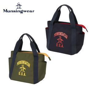 Munsingwear マンシングウェア ユニセックス ゴルフ バッグ カートバッグ MQBSJA45 21FW ポーチ 鞄 ポリエステル キャンパス地 ラウンドバック トートバッグ bespo
