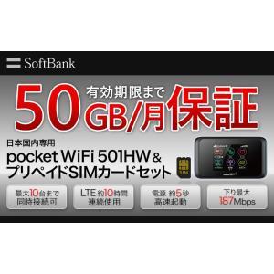 商品名 pocketWiFi501HW&プリペイドsimカードセット 満腹100  利用期間...