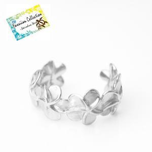 ハワイアンジュエリー  指輪  ステンレス 大人気 デザイン プルメリアモチーフ リング|bessan
