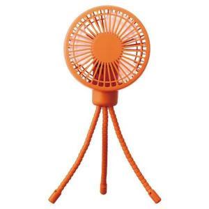 ドウシシャ VSF-192B-OR(オレンジ) 9cmDC USBおでかけファン 扇風機 風量3段階|ベスト電器PayPayモール店