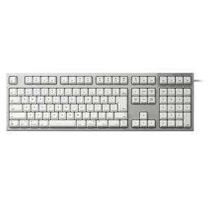 東プレ R2-JPVM-WH(シルバー/白) Realforce for Mac フルキーボード 日...