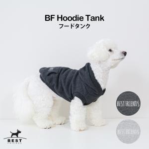 BF フードタンク / S,M,L,XL,XXL【犬服 犬の服 ドッグウェア】【夏 タンクトップ ノースリーブ 刺繍 綿 コットン 100% 犬 フード パーカー】|best-friends