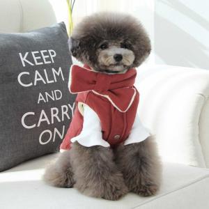 TOTO&ROY 配色マフラー ダウンSET 2Color   S M L XL犬 服 ダウン 犬の服 ドッグウェア  小型犬 トイプードル  おしゃれ かわいい ドッグ  アウター 防寒 best-friends