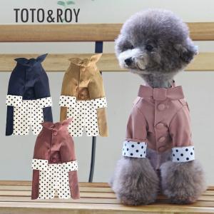 TOTO&ROY ドット トレンチコート 3Color   S M L XL犬 服 ダウン 犬の服 ドッグウェア  小型犬 トイプードル  おしゃれ かわいい ドッグ  アウター 防寒 best-friends