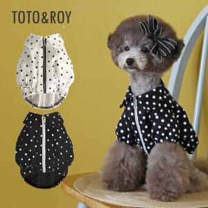 TOTO&ROY レトロポップジャケット 2Color   S M L XL犬 服 ダウン 犬の服 ドッグウェア  小型犬 トイプードル  おしゃれ かわいい ドッグ  ドット 水玉 防 best-friends