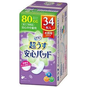 リフレ 安心パッド お得用パック 80cc 34枚|best-plice-online