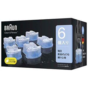 【99.9%除菌】ブラウン アルコール洗浄液 (6個入) メンズシェーバー用 CCR6 CR[正規品] best-plice-online