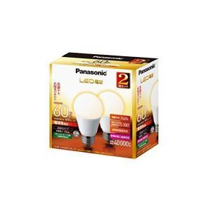 パナソニック LED電球 口金直径26mm 電球60W形相当 電球色相当(7.8W) 一般電球・広配光タイプ 2個入 密閉形器具対応 LDA8LGK60ESW2T|best-plice-online