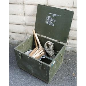 フランス軍放出 F1テントボックス ウッド B X100UN 〔中古〕 送料無料|best-value