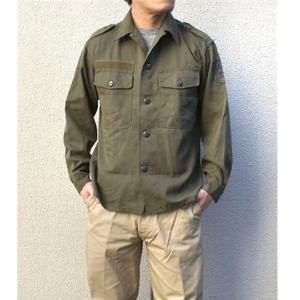 オーストリア軍 放出フィールドシャツ〔中古〕 オリーブ系 96-100(L相当) 送料無料|best-value