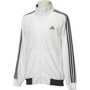 adidas(アディダス) ESSENTIALS 3ストライプス ジャージジャケット カラー:ホワイト/ブラック サイズ:J/M 送料無料|best-value