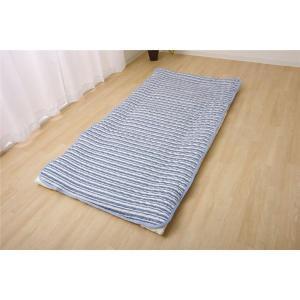 敷きパッド シングル 洗える 冷感 涼感 接触冷感 消臭 『アイスボーダー 敷パッド』 約100×205cm 吸水 速乾 送料無料