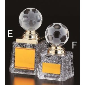 トロフィー【サッカー】【文字彫刻無料】ガラストロフィー B380-Eサイズ●H135mm|best