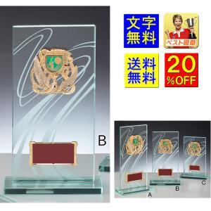 ガラス楯【送料無料.文字無料】ガラス盾記念品に!ガラス楯 W-ML6201-B●220mm 種目選択|best
