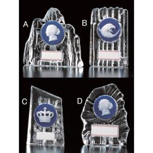 楯(盾)【文字彫刻無料】人気の表彰ガラス楯 Z144-Bタイプ●高さ160mm|best