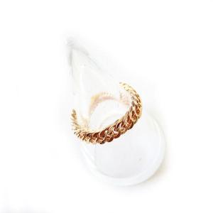 ピンキーリング ステンレス製デザインリング/指輪  チェーン...