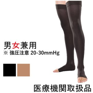 医療用 弾性ストッキング オープントゥ つま先開き 医療用 弾性ストッキング ニーハイ セラファーム 男性用 女性用 メンズ 大きいサイズ 20-30 父の日 靴下|bestaid