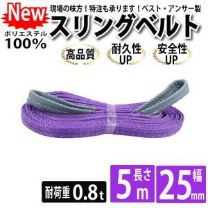 業務用 スリング スリングベルト ナイロンスリング ベルトスリング 幅 25mm 5m 引っ越し 吊り具|bestanswe
