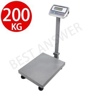 はかり 台はかり デジタル台はかり 最大200kg スケール 電子秤 風袋 計量機 測定機 業務用 低床|bestanswe