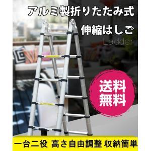 アルミ伸縮式はしご 3.8m 高さ自由調整 コンパクト 脚立 折りたたみ アルミはしご 梯子 アルミ製伸縮はしご ハシゴ 踏み台 踏台 bestanswe