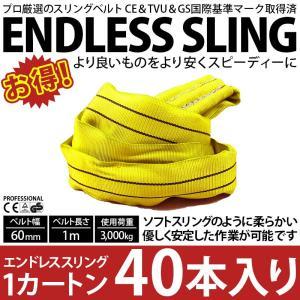 業務用 スリング スリングベルト ナイロンスリング ベルトスリング エンドレス 1m 3000kg カートン 40本 引っ越し まとめて セット 大量 吊り具|bestanswe