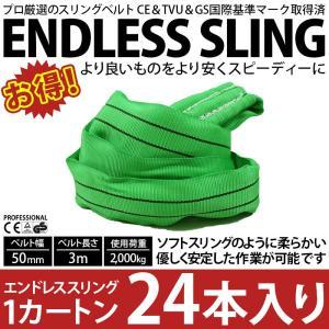 業務用 スリング スリングベルト ナイロンスリング ベルトスリング エンドレス 3m 2000kg カートン 24本 引っ越し まとめて セット 大量 吊り具|bestanswe