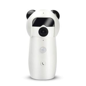 据え置き型 パンダ ワイヤレス 防犯カメラ セキュリティ カメラ 防犯 空き巣 泥棒 スマホ 連動 アプリ|bestanswe