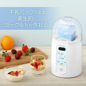 ヨーグルトメーカー 牛乳パック アイリスオーヤマ カスピ海 甘酒 発酵食品 塩麹 納豆 ヨーグルト IYM-014|bestexcel