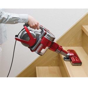 掃除機 クリーナー パワーヘッドスティッククリーナー コンパクト 紙パック不要 自走式 パワーヘッド サイクロン IC-SM1-R レッド アイリスオーヤマ|bestexcel|11