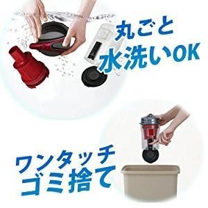 掃除機 クリーナー パワーヘッドスティッククリーナー コンパクト 紙パック不要 自走式 パワーヘッド サイクロン IC-SM1-R レッド アイリスオーヤマ|bestexcel|10