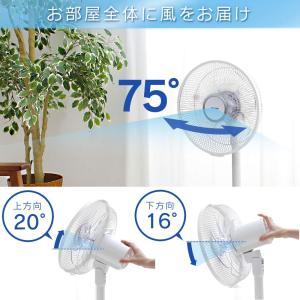 扇風機 DCモーター 安い リビング 30cm リモコン付き アイリスオーヤマ LFD-306L|bestexcel|05