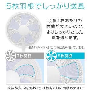 扇風機 リビング 30cm 首振り 高さ調節 風量切替 タイマー おしゃれ 静音 5枚羽 メカ式扇風機 リビングメカ式扇風機 KI-1735I TEKNOS テクノス (D)|bestexcel|02