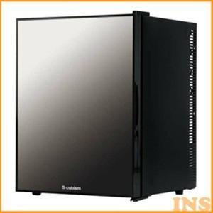 1ドア冷蔵庫 40L ミラーガラスドア ブラック WRH-M...
