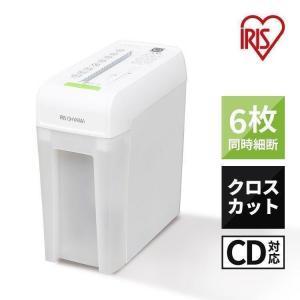 シュレッダー 家庭用 業務用 電動 電動シュレッダー 家庭用シュレッダー 業務用シュレッダー CD DVD カード P6HC アイリスオーヤマ
