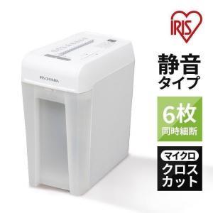 シュレッダー 家庭用 アイリスオーヤマ 電動 マイクロクロスカット コンパクト 6枚 静音 CD対応 DVD対応 プラスチックカード オフィス A4用紙 P6HMCS|bestexcel