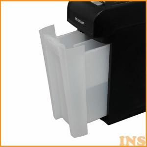 シュレッダー 家庭用 アイリスオーヤマ 電動 マイクロクロスカット コンパクト 6枚 静音 CD対応 DVD対応 プラスチックカード オフィス A4用紙 P6HMCS|bestexcel|05