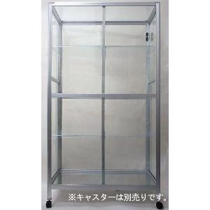 ショーケースや什器などに最適!! TOP-1508SS クリア棚板6枚付き