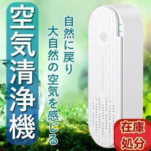 ミニ空気清浄機 オゾン発生器 オゾン脱臭機 脱臭機 消臭 ほこり除去 ペット静音 浴室 花粉対策 コ...